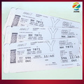Excellent Paper Airline Thermal Boarding Passes luggage tags/