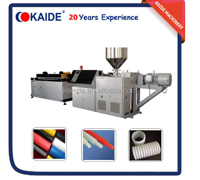 PVC PP PE single wall corrugated pipe making machine/plastic flexible pipe extrusion machine/line