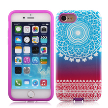 2017 for iphone 8 dual layer hybrid hard back cover and soft silicon bumper phone case