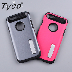 Coloful Combo Back Cover Bracket PC+TPU Mobile Phone Case with metal holder