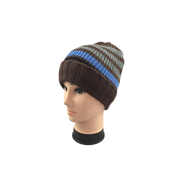 Custom Color Striped Winter Knitted Hat