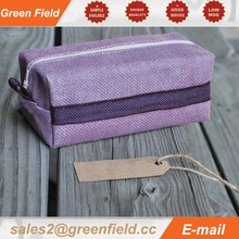 Designer cosmetic bag, waterproof brush bag, jute waterproof cosmetic bag