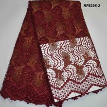 Nigeria guipure lace fabric crochet new design cupion