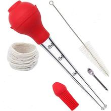 New arrival oil dropping bottle silicone meat turkey baster <strong>injector</strong>