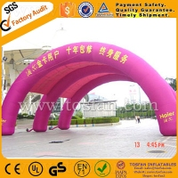 Waterproof PVC tarpaulin or PVC vinyl inflatable arch for events F5029