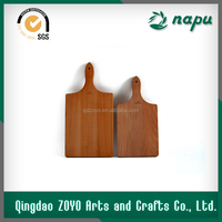 Small size natural wooden paddle board ,cheese board