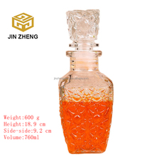 Measuring 750ml quality empty clear spirit glass bottl