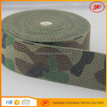 Factory custom cotton printed webbing military fabric belt