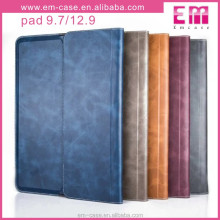 High Quality PU Leather Smart Case for ipad4,flip wallet phone case for ipad4