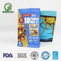 Custom sizes plastic food packaging, block bottom bag for food packaging