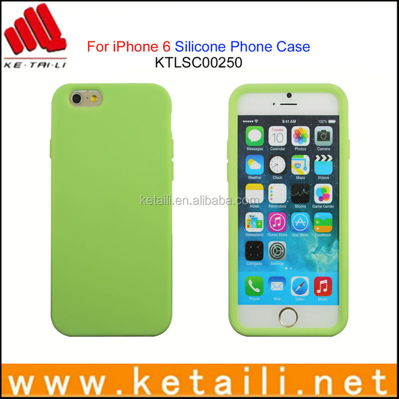 For iPhone 6 plus blank silicone rubber tpu cellphone mobile phone case cover manufacturer