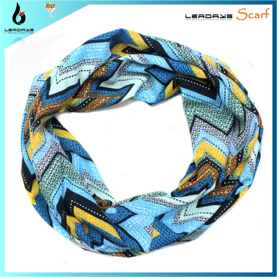 trendy spring ladies hot sale polyester chevron infinity scarf