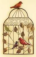 Metal Crafts Hang Wall Art Christmas Birdcage For Decoration