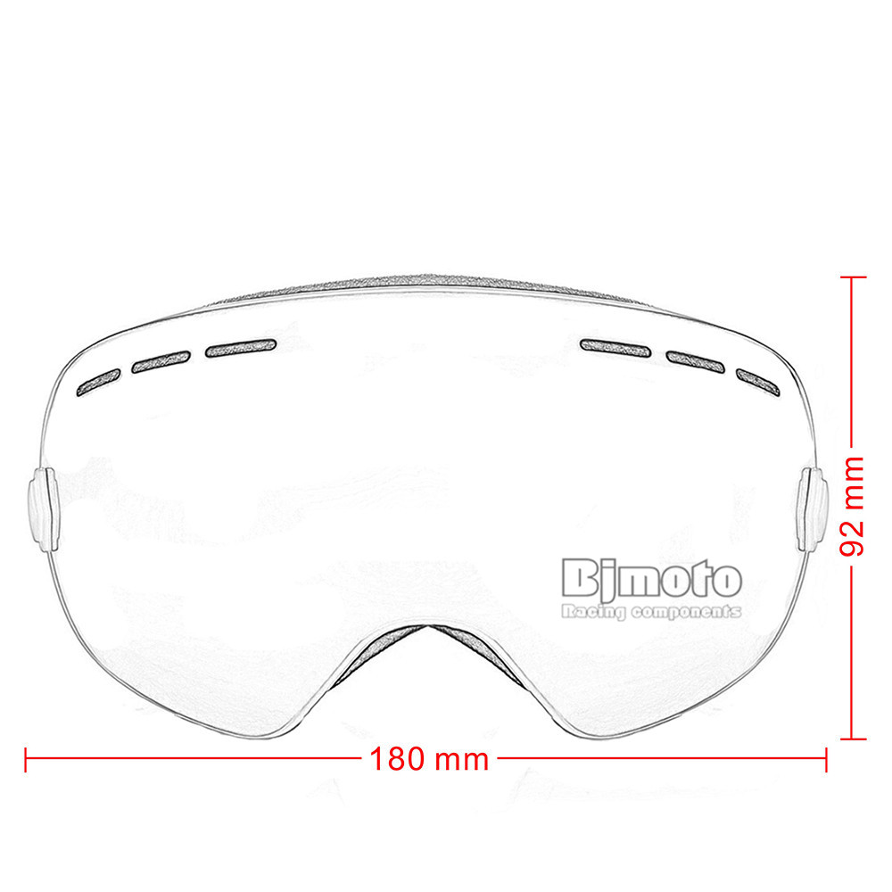 Motocross Goggles Glasses Snow Sports Snowboard with Anti-fog UV400 for Men Women Snowmobile Skating Mask Racing Goggles (5)