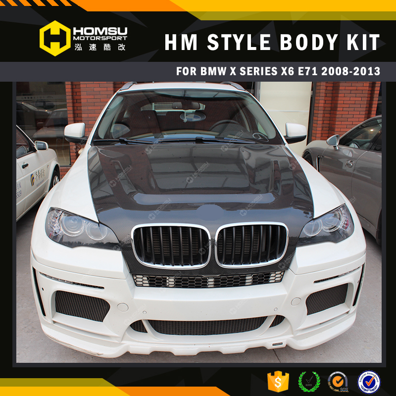 for X6m fiber glass plastic front bumper x6m HM style wide body kit