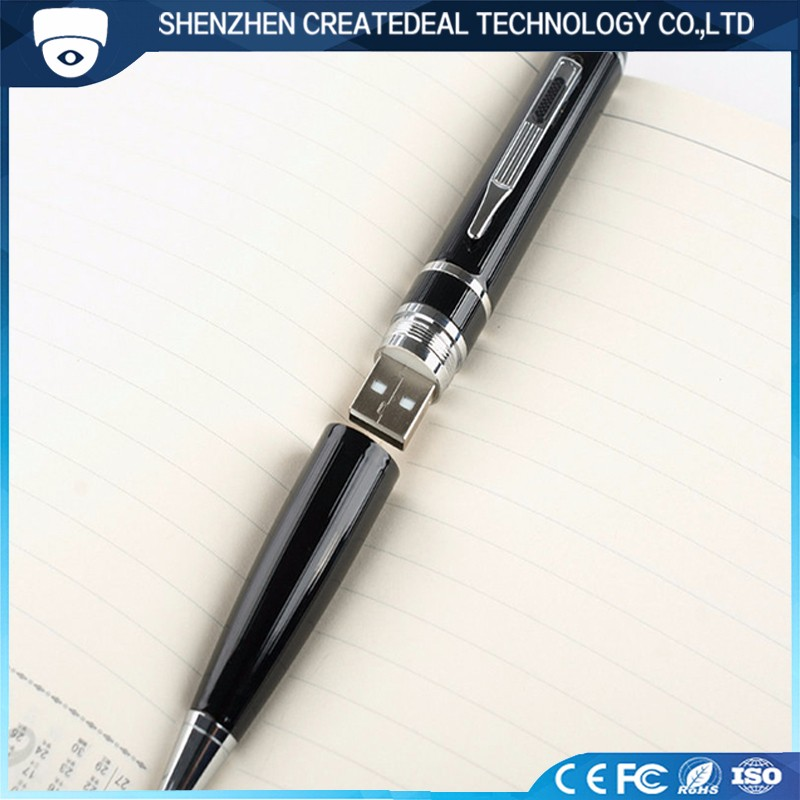 16GB FULL HD Elegant Clear Pen Camera Spy Cam with H.264 Coding Easy to Operate