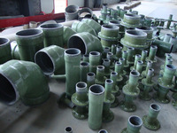 PVC-FRP GRP fiberglass composite material pipe fittings