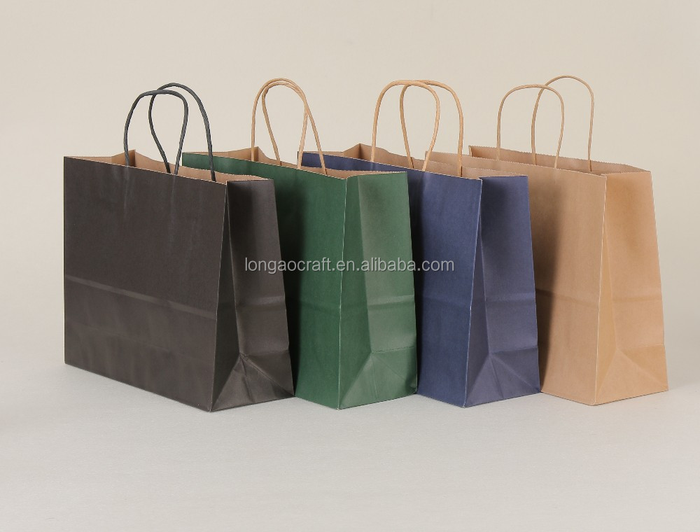 (China suppliers)Large shopping paper bag with kraft paper/Accept custom logo