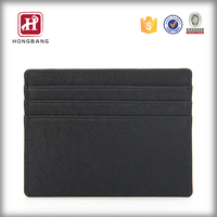 Men's Handmade PU Leather Card Holder Promotion Gift