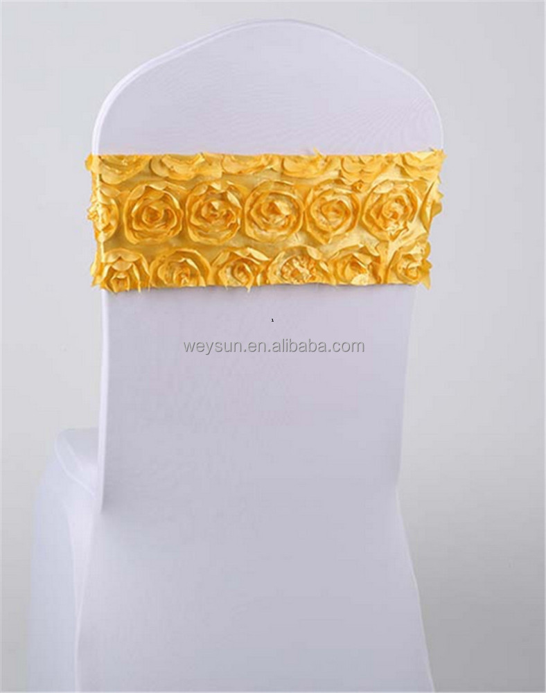Elastic Flower Wedding Chair Cover Sashes Party Banquet Decoration