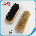 Fast supplier small wood brush shoes clean, boar bristle boots cleaner wholesale
