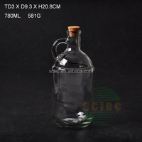 2016 new design 750ml glass moonshine jug