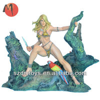 Sexy hot Jungle beauty girl movie action figure