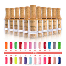 Best Sale Nail Art OEM Free Sample Wholesale Colorful Soak off LED Organic Nail Gel Polish with Wood bottle environmental pack