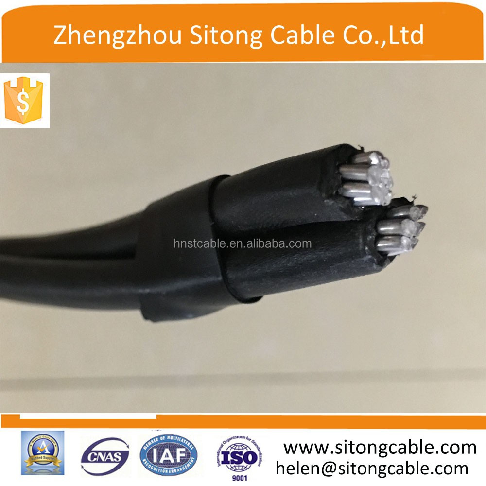 XLPE insulated overhead cable/ duplex service drop bull electrical cable