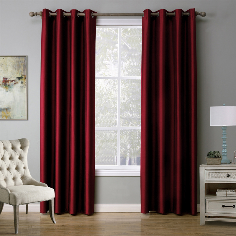 UNIKEA 1-Piece Purple Curtains For Living Room Blackout Curtains For Bedroom Drapes Punching cortinas