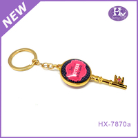 Hx-7870a Fashion promotion gift make printed engraved acrylic keychains