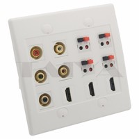 5 X RCA 3 X HDMI 4 X Speaker Female To Female Wall Plate Support Customization