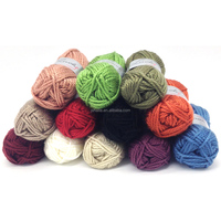 3 ply wool and acrylic blended hand knitting yarn for sweater dress and children DIY with multiple colors