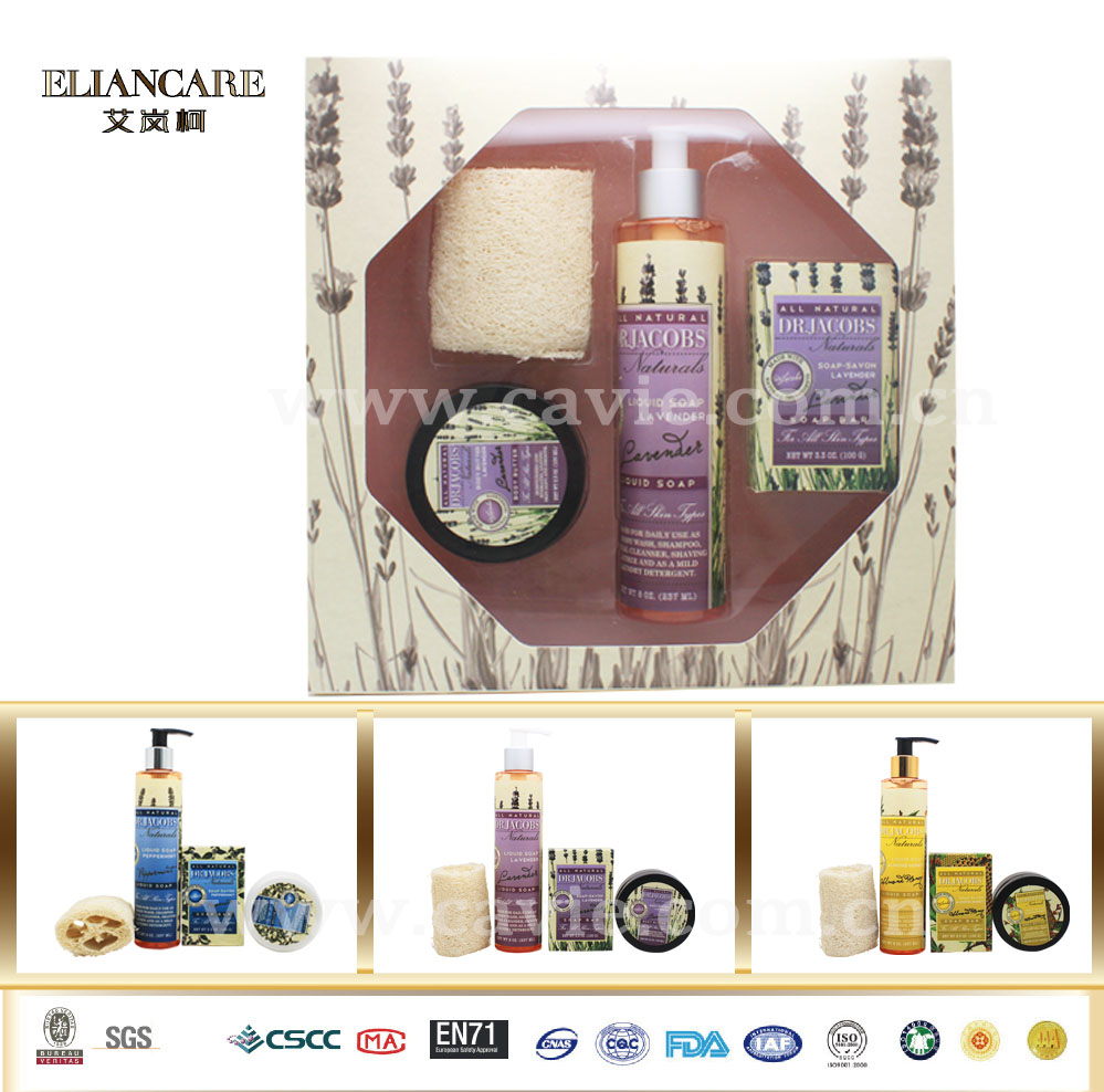 OEM Beauty Products Lavender Shower Bath Spa Gift Set