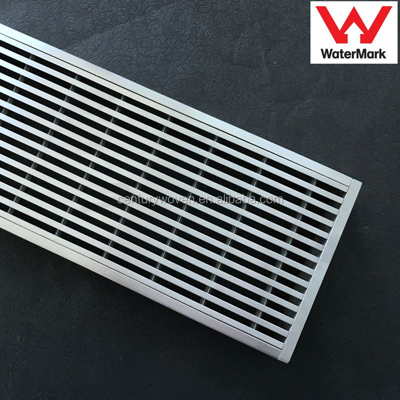 Stainless steel wedge wire linear floor drain bathroom trench drain grate swimming pool drain