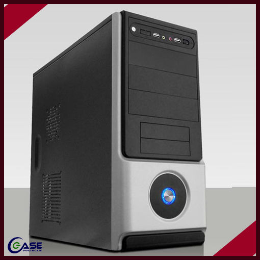 desktop branded desktop atx computer case with handle