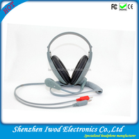 Language lab system use headset with extension cable language learning headset