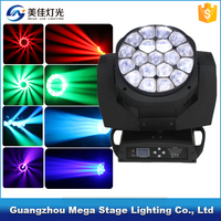 19x15w rgbw 4in1 zoom led moving head beam BEE-eye lighting
