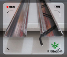 Galvanized steel lock profile for plastic film greenhouse