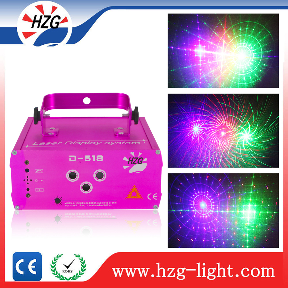 Pink Shell 3 Holes Rgb Mini Home Party Laser Light,300mw Full Color Laser For Parties