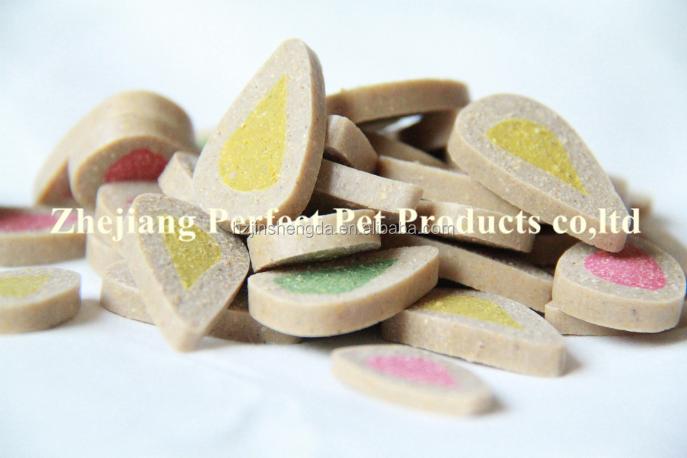 import dog food products(dental treat shaped water-drops)