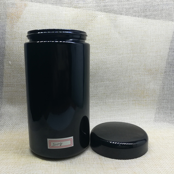 500g empty dark violet glass cosmetic cream container