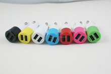 10% discount promotion colorful pocket charger for mobile phone with led light