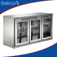 MG60L3W 3 doors stainless steel beverage display counter fridge/ back bar bottle cooler