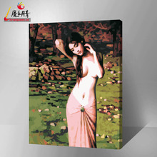 famous nude woman oil painting by number from china supplier