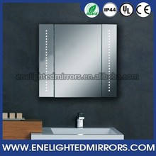 Wall mount recessed mount modern medicine cabinet with mirror doors
