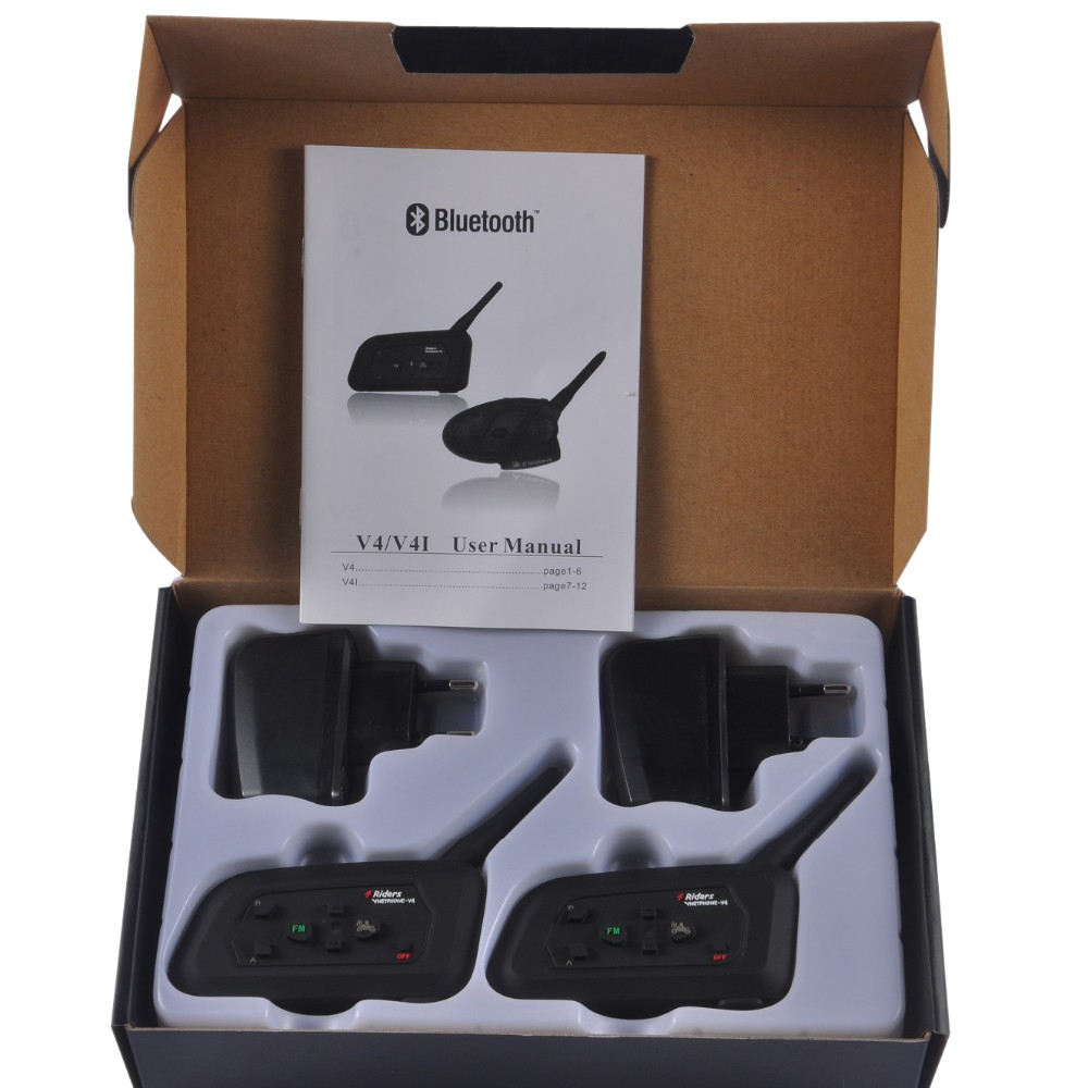 Newest product V4 motorcycle helmet earphones bluetooth wireless