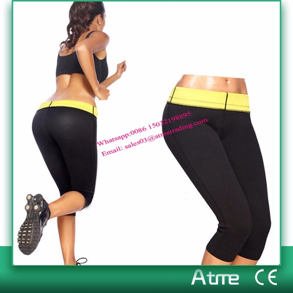 Hot Best Selling Neoprene Body Shper Slimming Pants Burning Fat Unisex Sport Pants