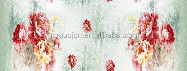 75D*150D disperse printing fabric 3D design,100% polyester microfier fabri for bedsheet sets
