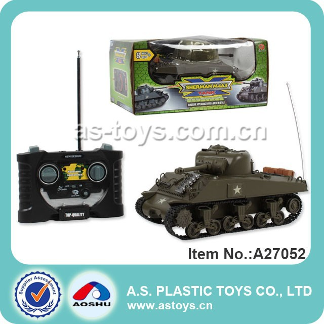 1:30 scale plastic infrared rc tank toy